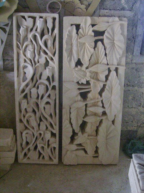batu paras kolam relief ornamen batu ornamen batu alam