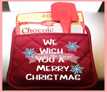 Oven Mitt Kit (We wish you a Merry)