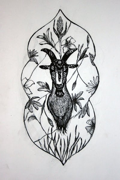Decorative goat plaque