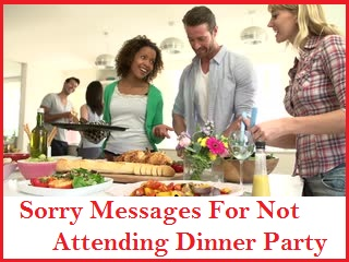 Sorry messages not attending dinner party not attending dinner party ccuart Choice Image