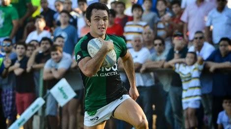 Augusto López, wing de Tucumán Rugby