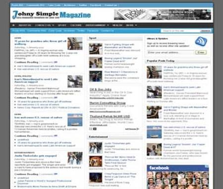 Johny Simple Magazine Blogger Template