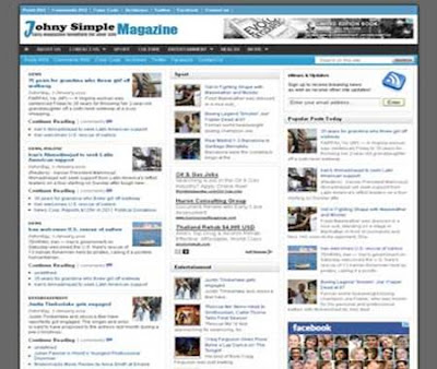 Template Blogger Johny Simple Magazine