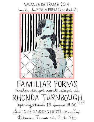 Sesta edizione di Vacanze da Trame con la mostra 'Familiar forms' dedicata all'opera di Rhonda Turnbough