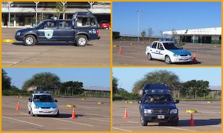Practica de manejo cadetes Policia del Chaco