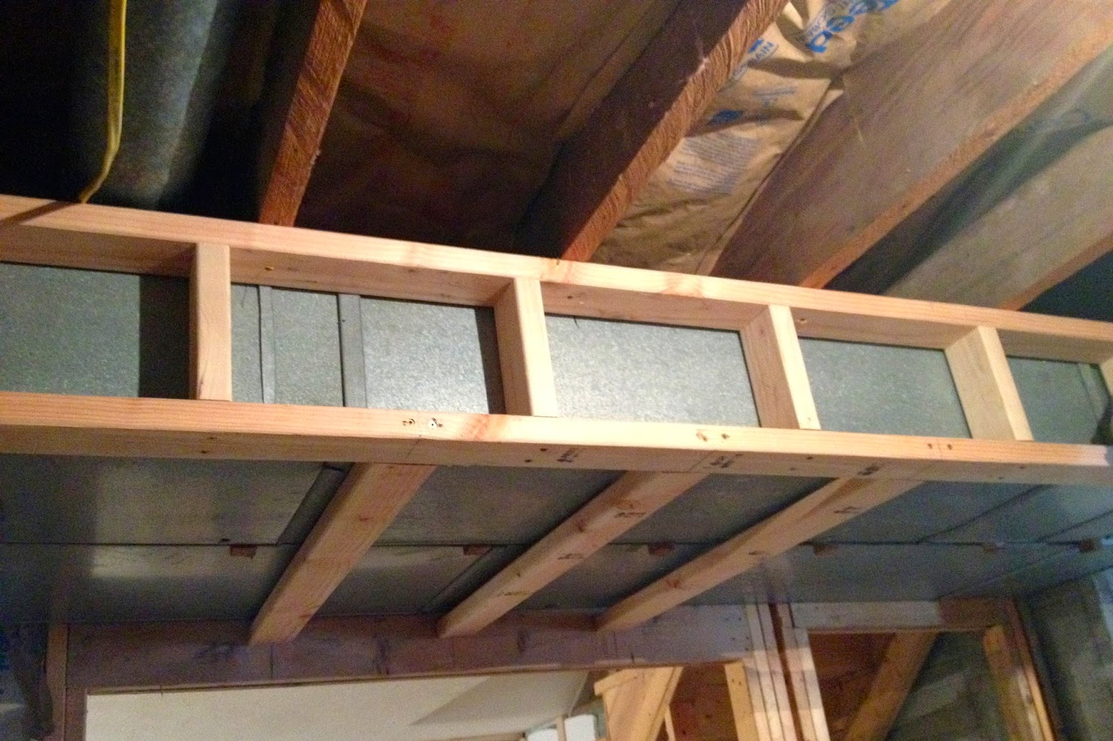diy why spend more framing around ductwork in a basement