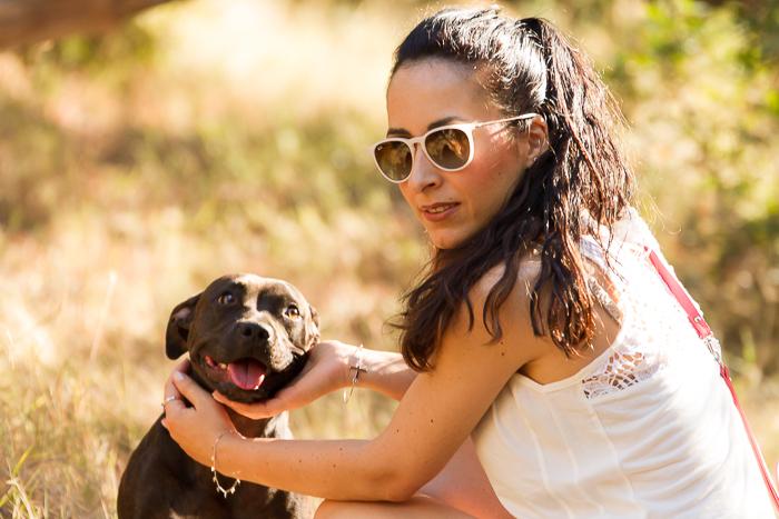 Blogger de moda española withorwithoutshoes con mascota
