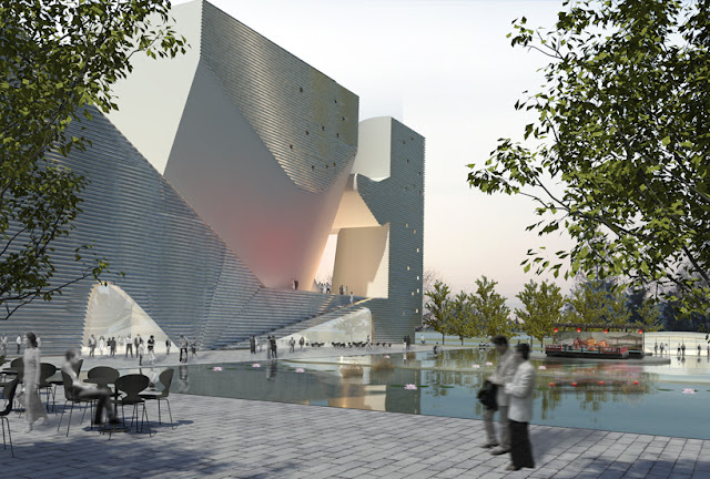Steven Holl Architects, Tianjin, Ecology and Planning Museums, Chine - Images by Steven Holl