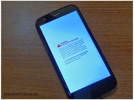 Moto G Unlocked Bootloader warning removal