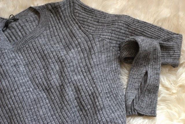 jersey canale gris Zara
