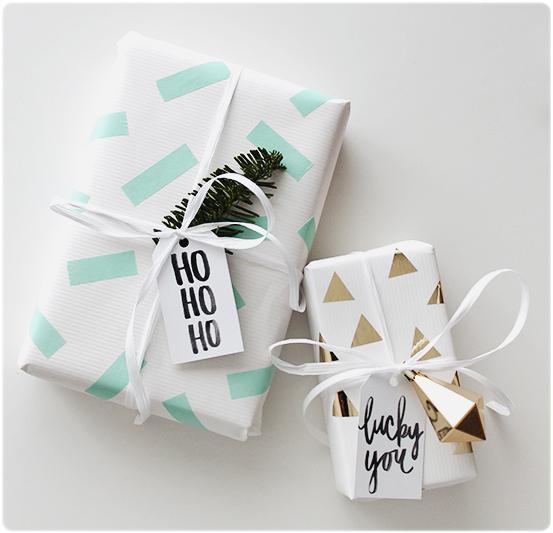 DIY envolver regalos Navidad washi tape