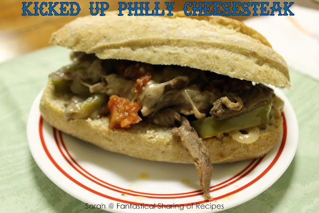 Kicked Up Philly Cheesesteak. Classic Phillies with a kick of Rotel! #philly #cheesesteak #manfood #Rotel