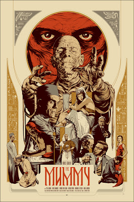 Mondo Universal Monsters Screen Print Series - The Mummy Standard Edition by Martin Ansin