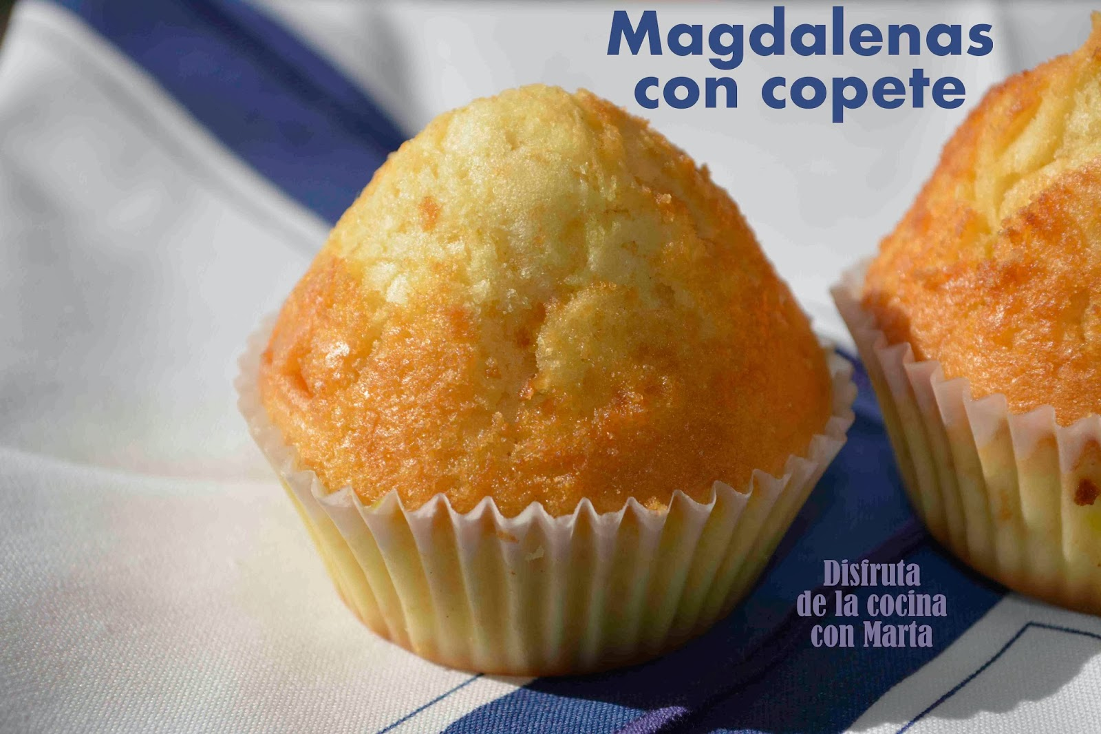 Disfruta de la cocina con marta magdalenas con copete - Hacer magdalenas con ninos ...
