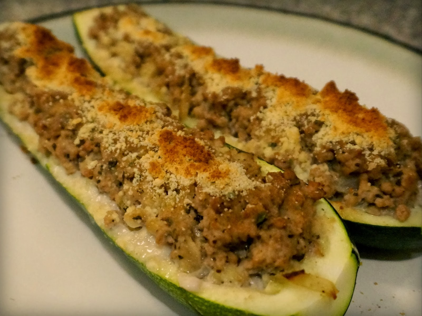 Turkey Stuffed Zucchini Boats: Another Easy Low-carb Deliciousness ...