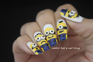 minion despicable me nail art