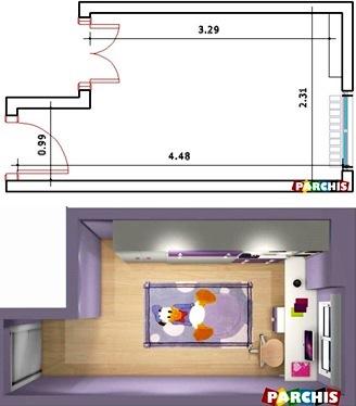 Muebles juveniles dormitorios infantiles y habitaciones - Medidas camas infantiles ...
