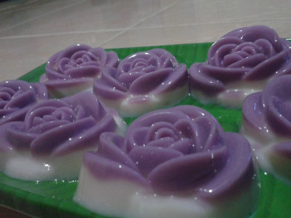 MY MOM'S PASSION: Puding Susu mawar