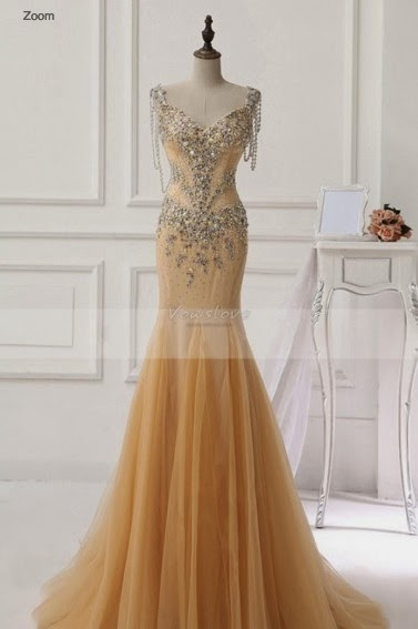 Vowslove Long Prom Dresses