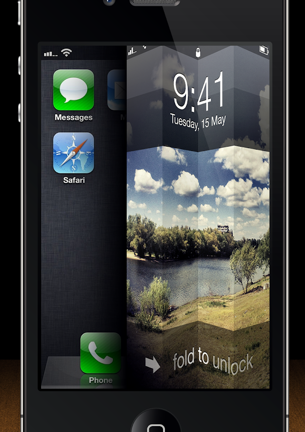Fold to Unlock iOS 6
