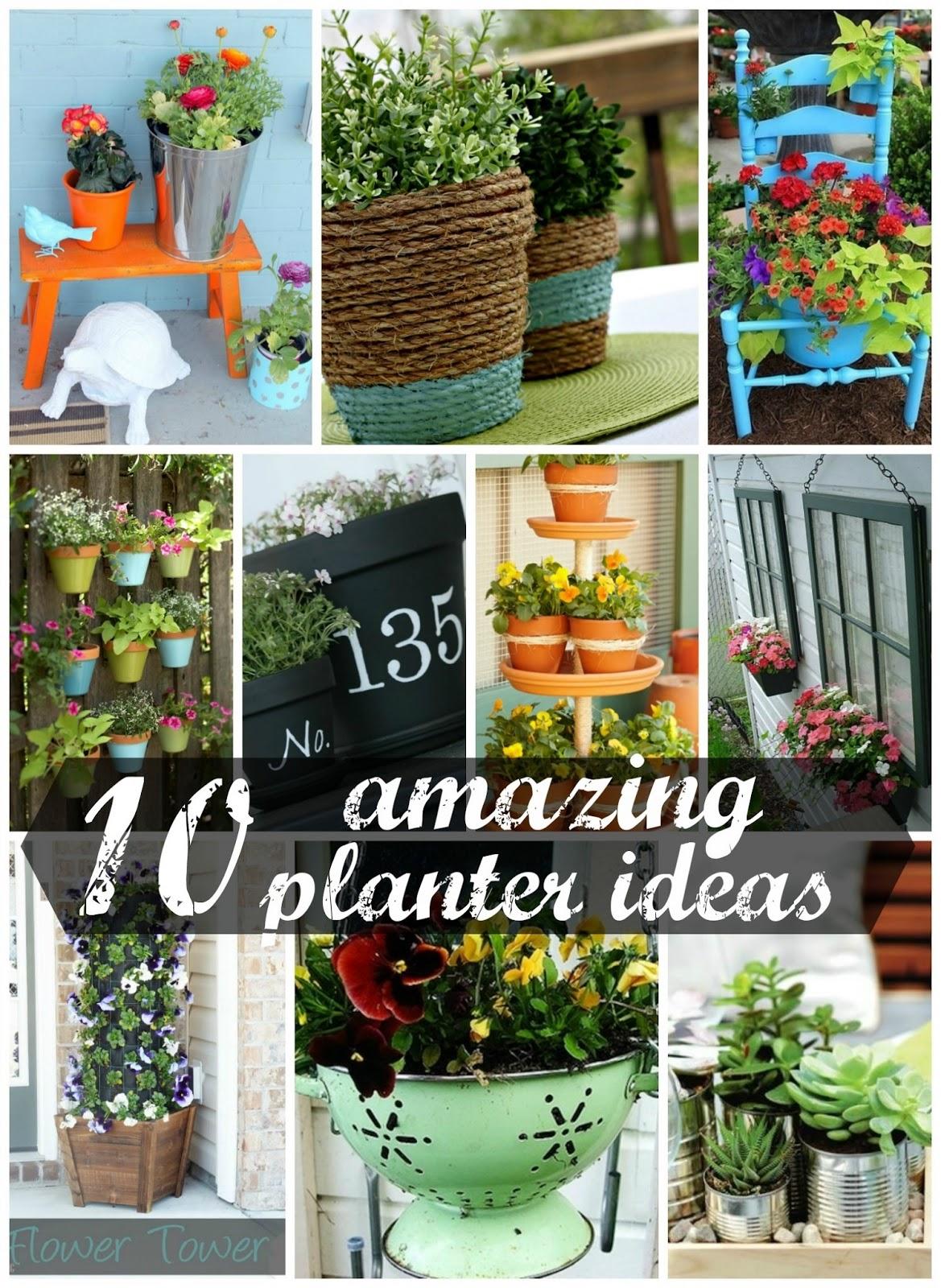 10 amazing planter ideas for Yard planter ideas