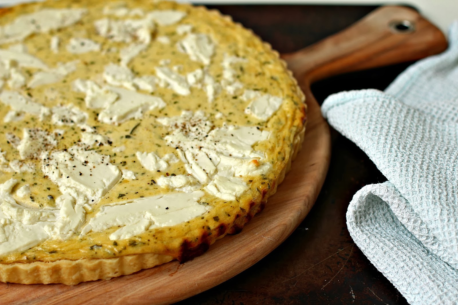 Milk and Honey: Leek, Creme Fraiche and Goat Cheese Tart