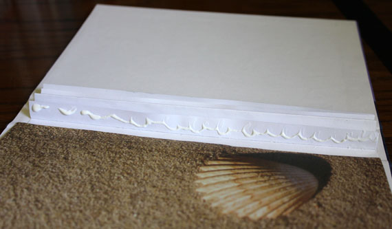 gluing pages into book