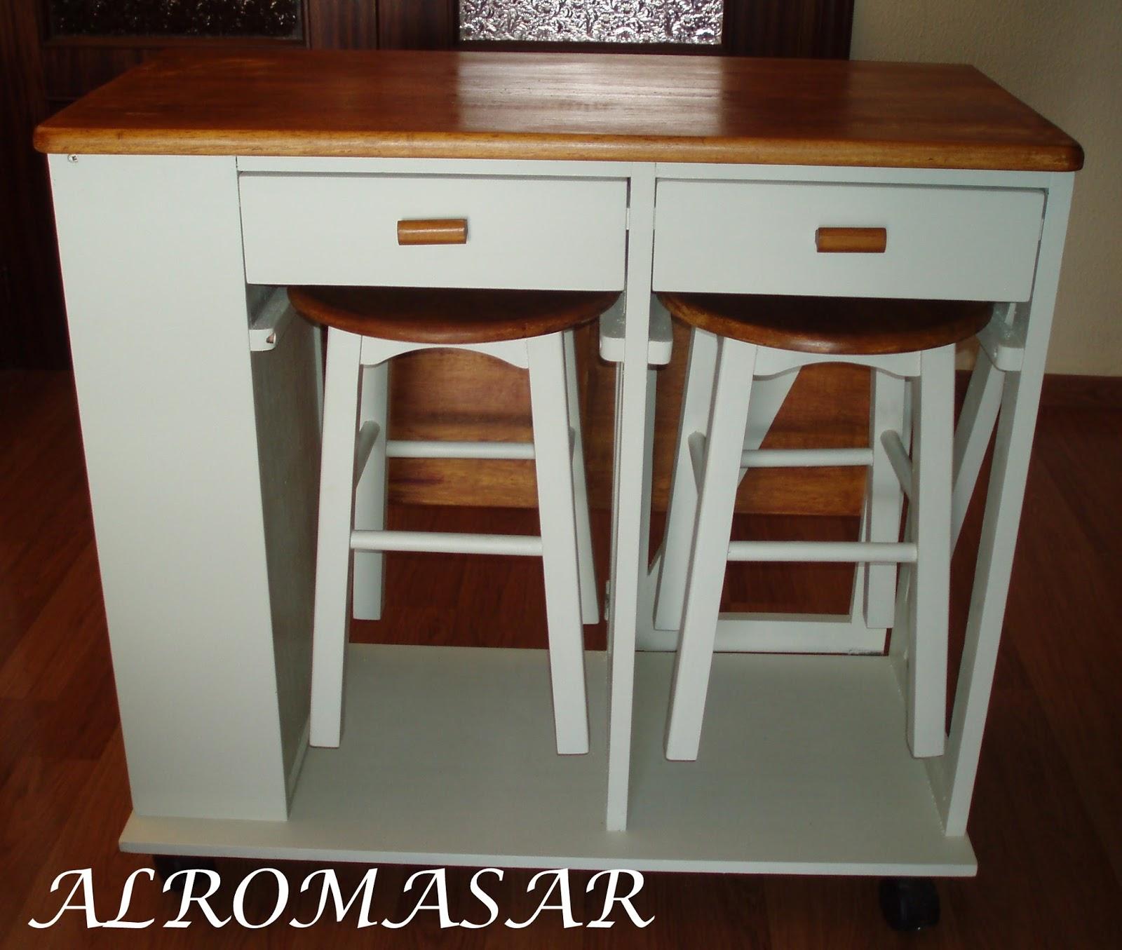 Alromasar restauraci n mesa extensible de cocina - Mesas auxiliares de cocina ...