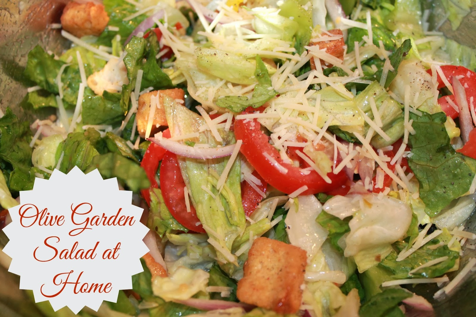 PolkaDotty Place Olive Garden Salad At Home - Olive garden house salad