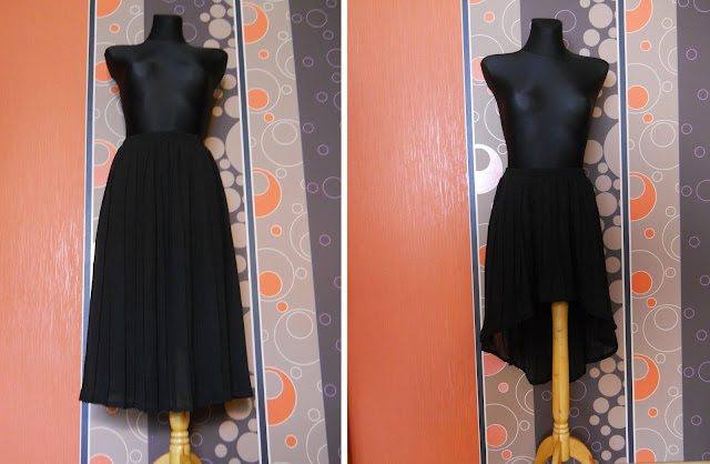jak zrobić spódnicę asymetryczną? cut out skirt, do it yourself, black skirt, diy, zrób to sam