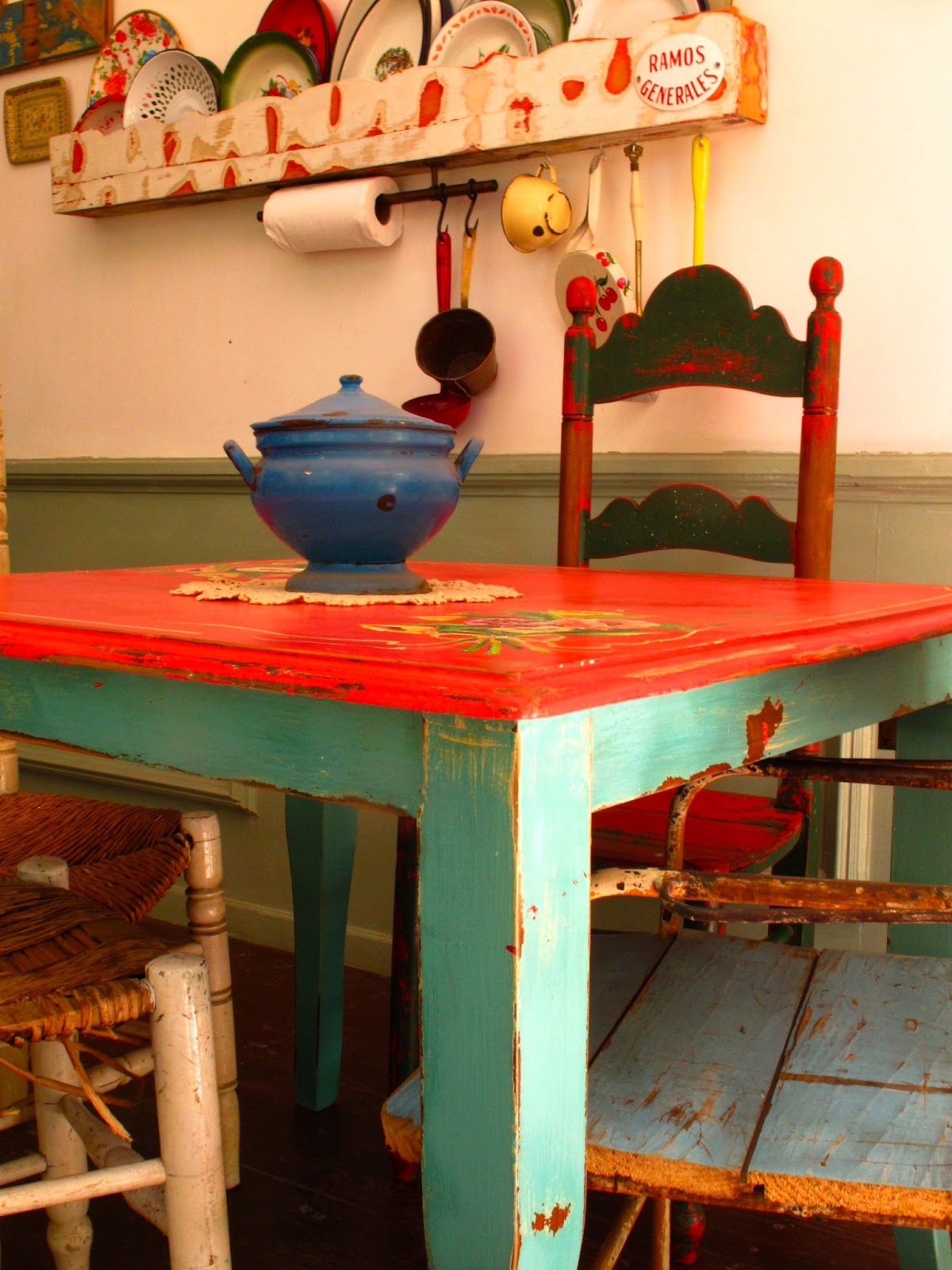 Ideas para decorar on pinterest shabby chic shabby and - Mesas de campo ...