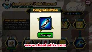 Cheat Anniversary Ninja Saga 2012