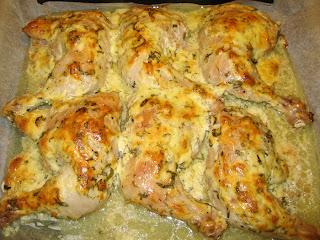 Куриные окорочка в сырной шубке