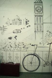 рисунок маркером на стене