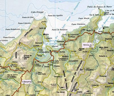 Más eucaliptos,  más   coníferas. Consecuencias de la sed de beneficio$ en la húmeda Galicia. El sector forestal. Mapa+Ribeiras+do+Sor+e+Cerdido