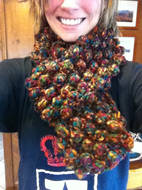 Cats And Crafts Crocheted Giant Popcorn Scarf