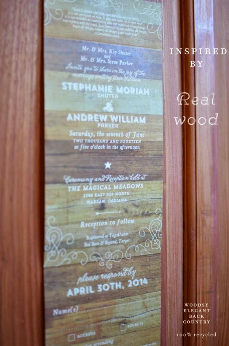 Woodsy Invitations
