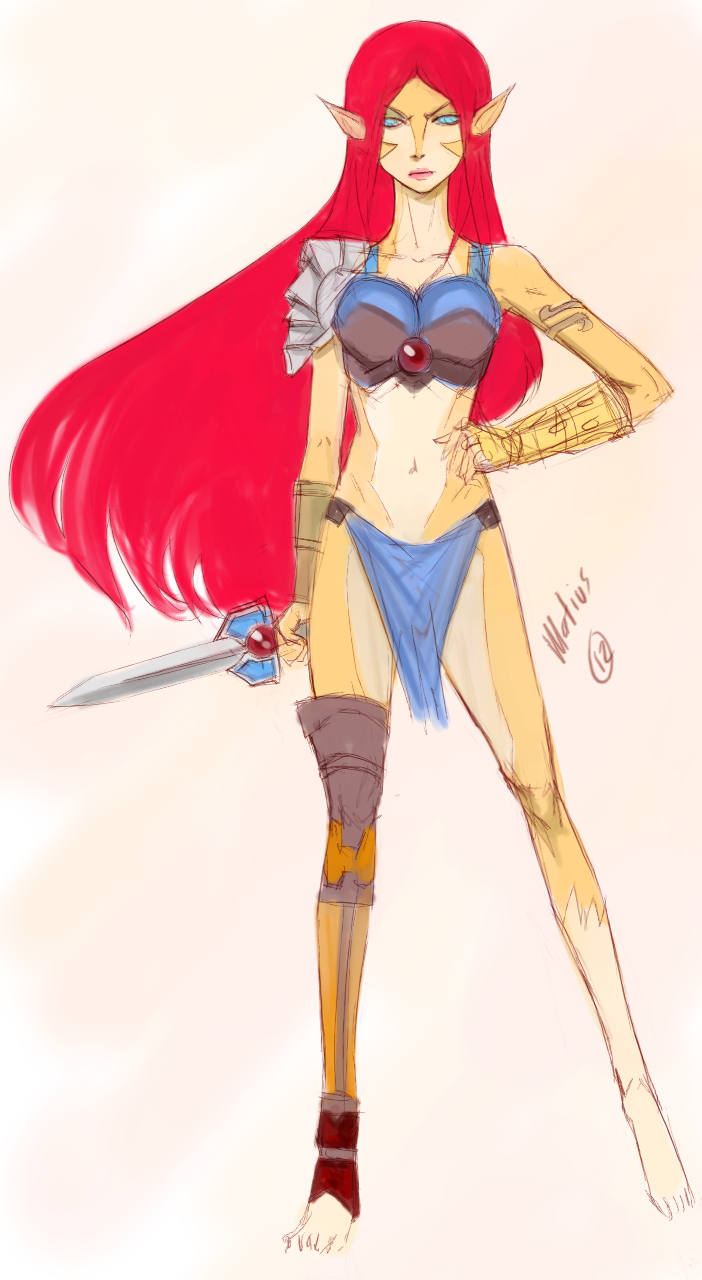 Lion-o Lion-A gender bender illustration ilustracion