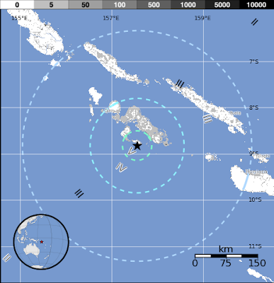 Epicentro sismo islas Salomon 28 de Septiembre 2012