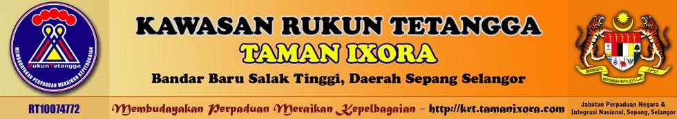 Kawasan Rukun Tetangga (KRT) Taman Ixora, Daerah Sepang Selangor