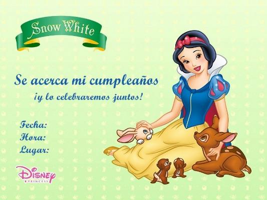 Invitaciones De Blanca Nieves