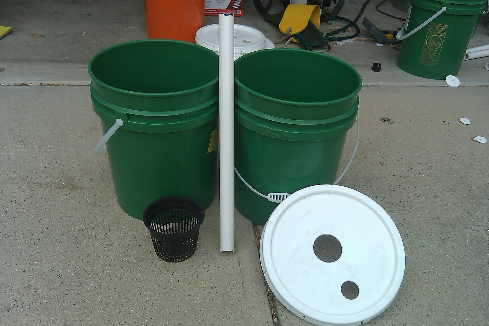 materials used - 5 Gallon Bucket Garden