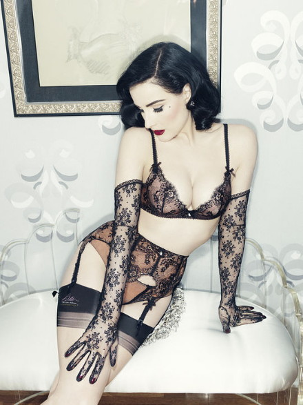 Von Follies by Dita Von Teese Fall 2013 Savoir Faire, lace lingerie