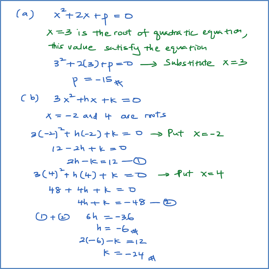 roots of quadratic equation – example – spm additional mathematics