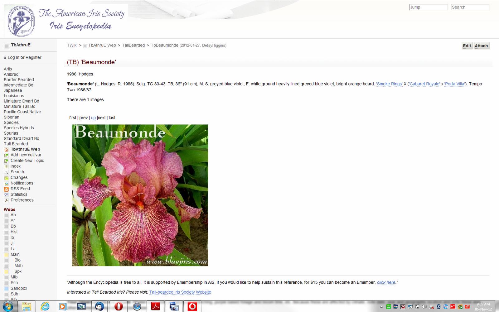 2012 Heritage Irises