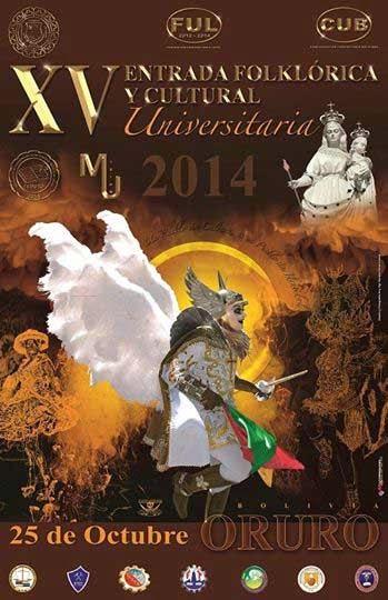 Rol de ingreso de la XV Entrada Folklórica Universitaria UTO 2014