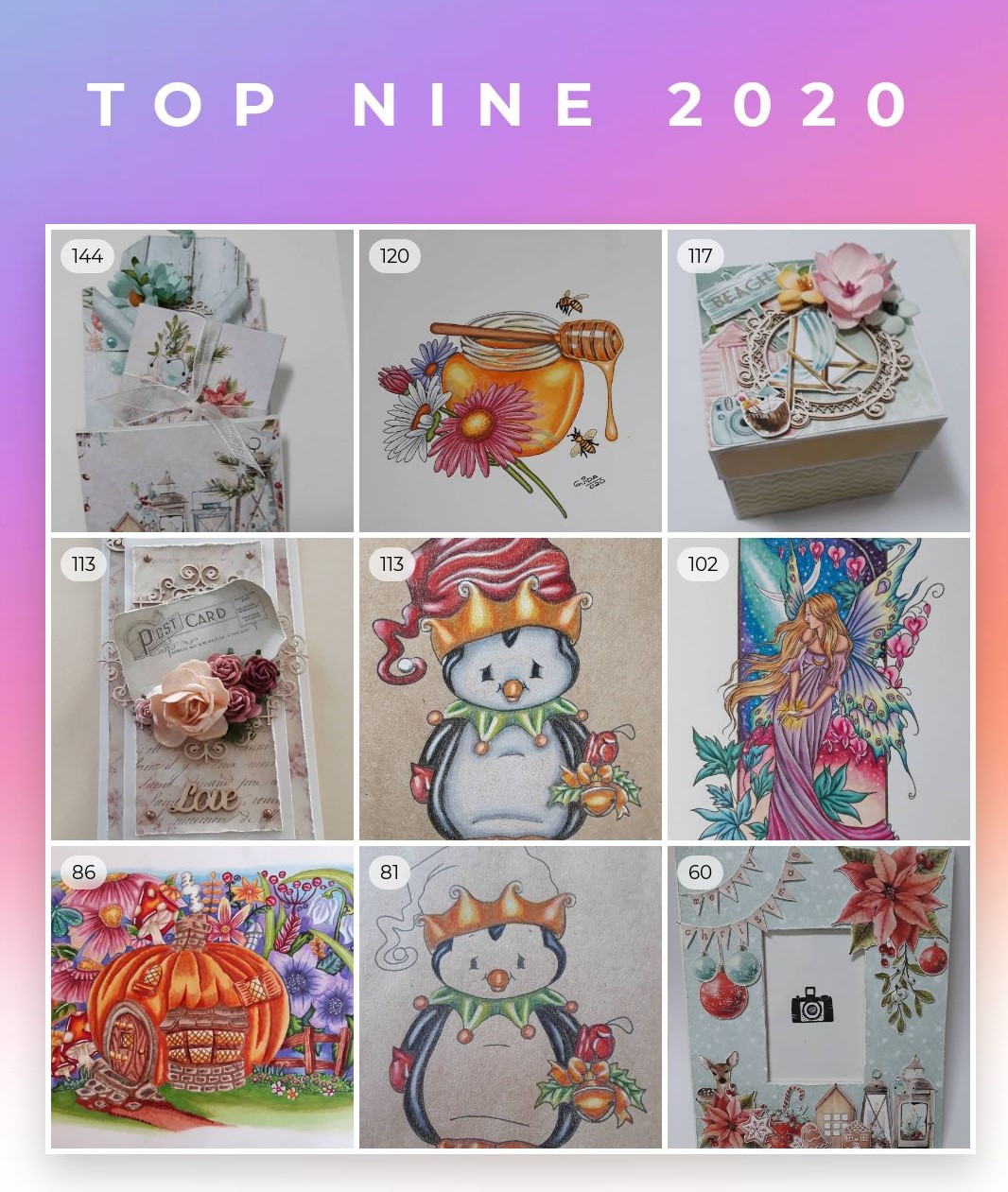 2020 Top Nine on Instagram