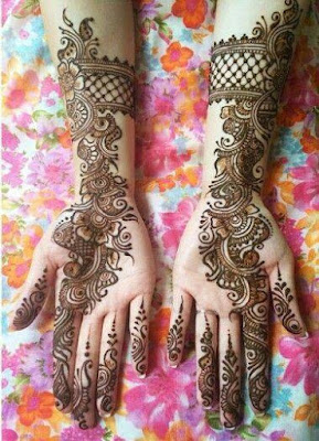 Mehndi Designs, Double Hands, Latest, Beautiful, Indian, 2015-2016