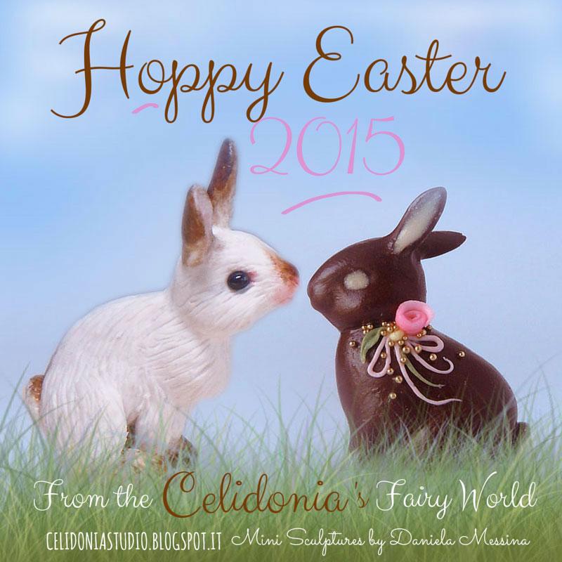 Easter Bunny - Tutorial Coniglietto in pasta sintetica by Celidonia
