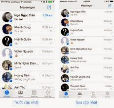 Giao diện facebook messenger cho iphone